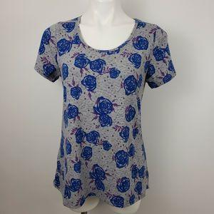 Lularoe sm classic tee t shirt top floral roses